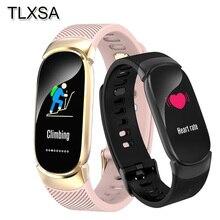 TLXSA pulsera inteligente rastreador de ejercicios Monitor del ritmo cardíaco de la banda inteligente podómetro impermeable deporte pulsera para los hombres y las mujeres Smartwatch