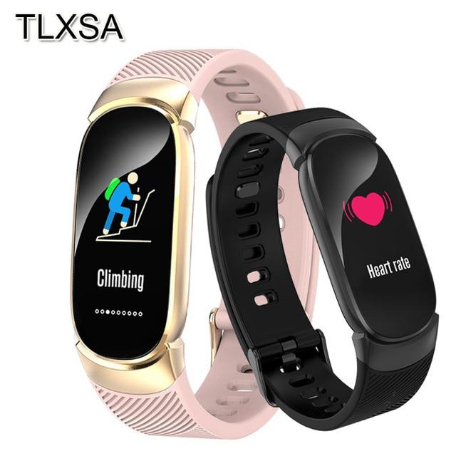 TLXSA умный Браслет фитнес трекер сердечного ритма мониторы водонепроницаемый смарт Браслет Шагомер Спорт для женщин мужчин Smartwatch