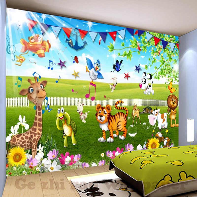 Kustom 3d Mural Wallpaper Dinding Kamar Anak Mencakup Wallpaper 3d