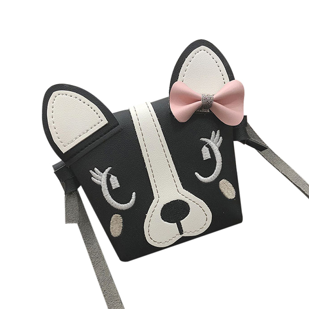 Hottest Children Cute Animal Bowknotl Leather Handbag Shoulder Bag Mini Crossbody Bag Sweet And Simple Style