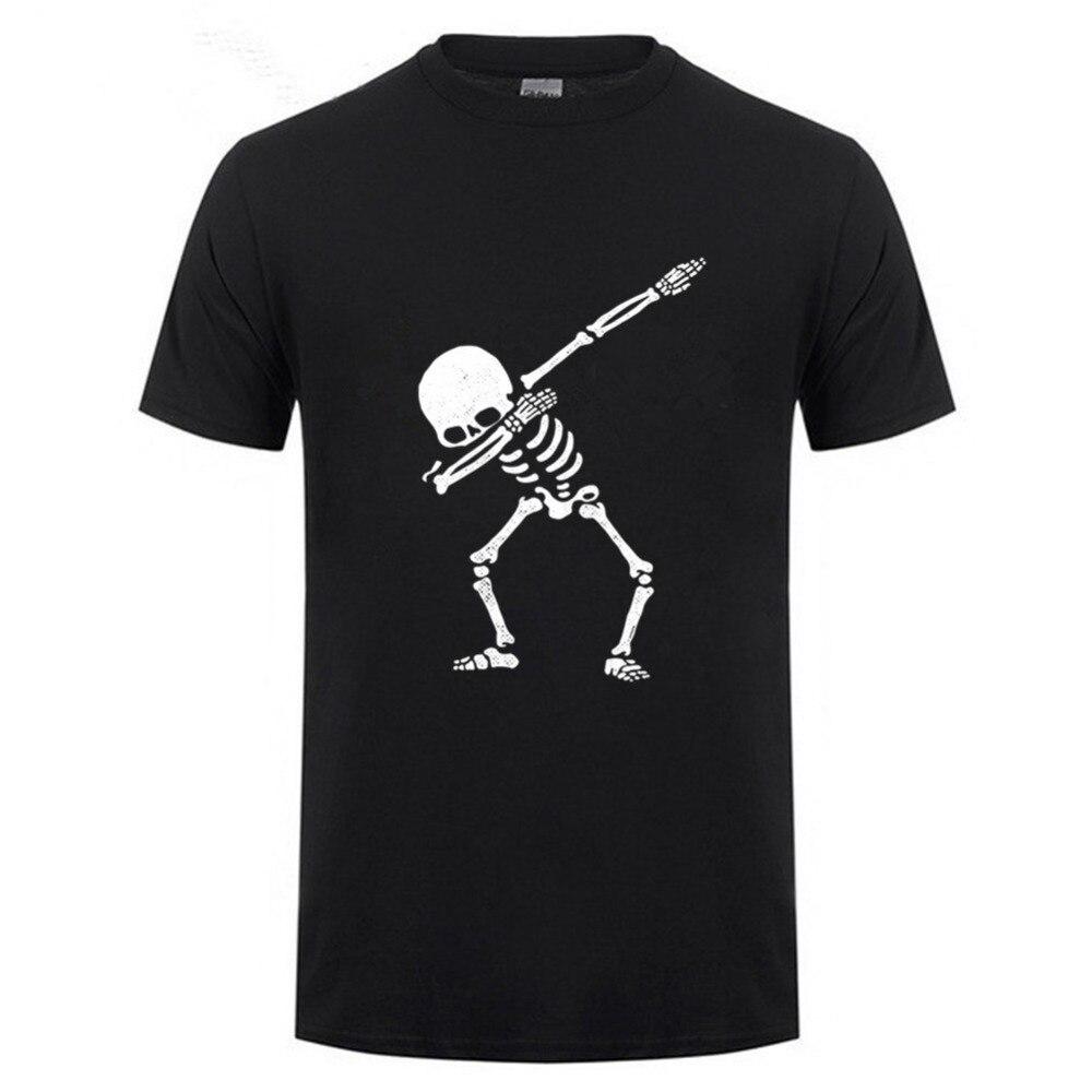Dabbing Skeleton   Shirt   Dab Hip Hop Skull Dabbin   T  -  shirt   2018 New Short Sleeve Casual men Personalized   T     Shirt