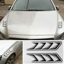 2pcs Universal Waterproof Auto Sticker 3D Shark Gills Car Stickers and Decals Car Vent Air Flow Fender Decor Wholesale