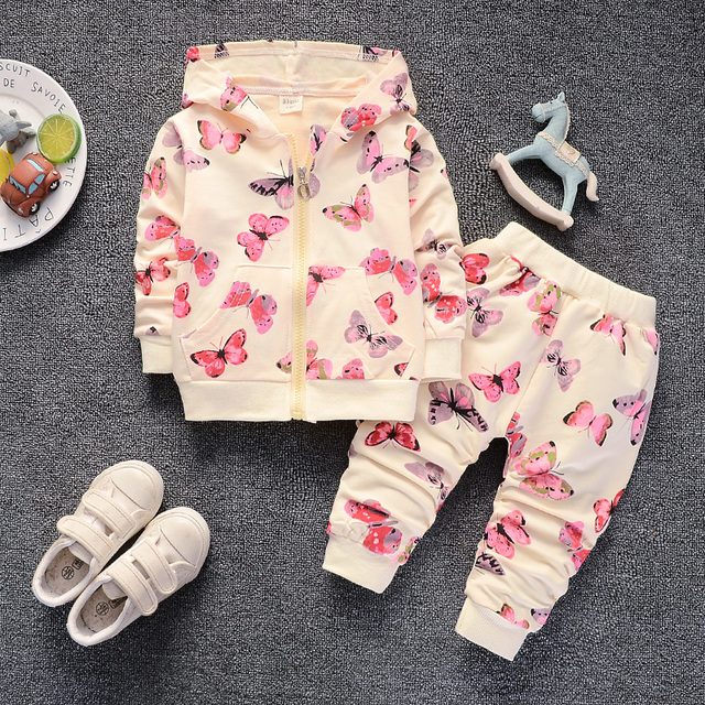 674cd203e5924 Aliexpress.com : Buy BibiCola baby girls clothing set spring autumn toddler  coat+pants 2pcs casual sport suits for newbron girls infant tracksuits ...