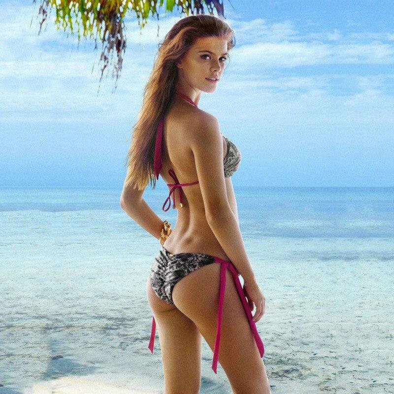 cf5731fb780 Skimpy Bikinis High Quality Sexy Snakeskin Pattern Swimsuit Fashion  Beachwear Bra Swimwear Ladies on Aliexpress.com | Alibaba Group
