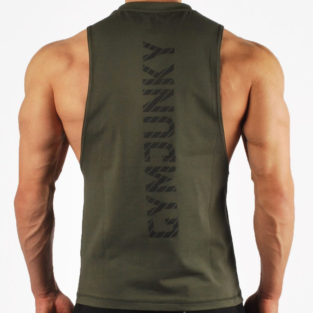 Brand Bodybuilding Stringer   Tank     Tops   Sportwear Tanktops Fitness Men Gyms Clothing Sleeveless shirt with Vest