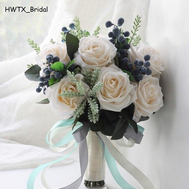 Wald Weisse Rose Beeren Hochzeit Bouquet 2018 Kunstliche Blumen