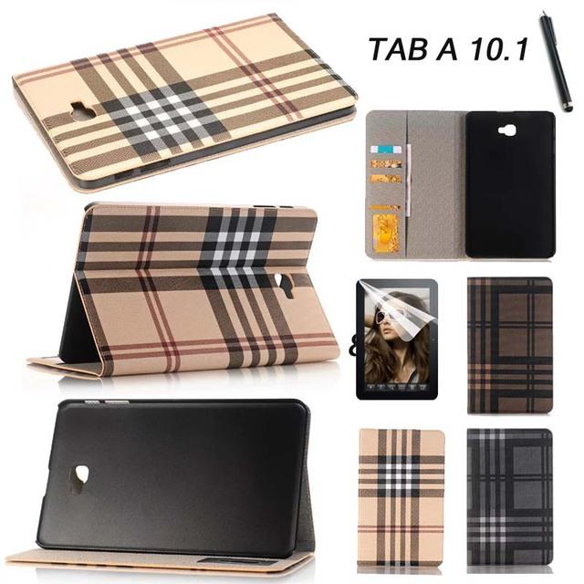 Cartão da carteira de alta qualidade pu caso capa de couro para samsung galaxy guia Um a6 10.1 2016 T585 T580N T580 tablet estande moda caso