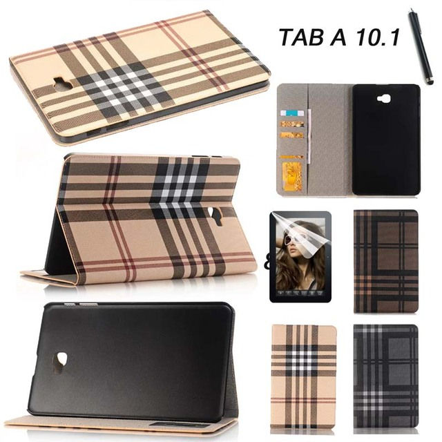 high quality Card Wallet PU leather Case Cover For Samsung Galaxy Tab A a6 10.1 2016 T585 T580 T580N tablet fashion stand case