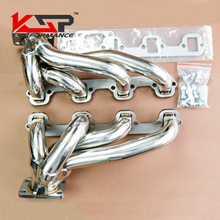 Kingsun Stainless Steel T3 Twin Turbo Racing Exhaust Header Manifold  For 87-93 Ford Mustang GT/SVT 5.0L 302 V8