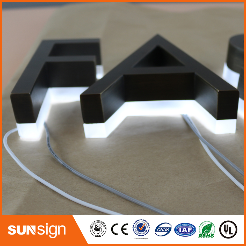 Factory Outlet Stainless Steel Backlit Led Letter Signs In Store