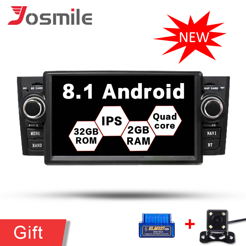 4G LTE Android 8 1 Quad Core Car DVD Radio Stereo Player For Fiat Grande Punto