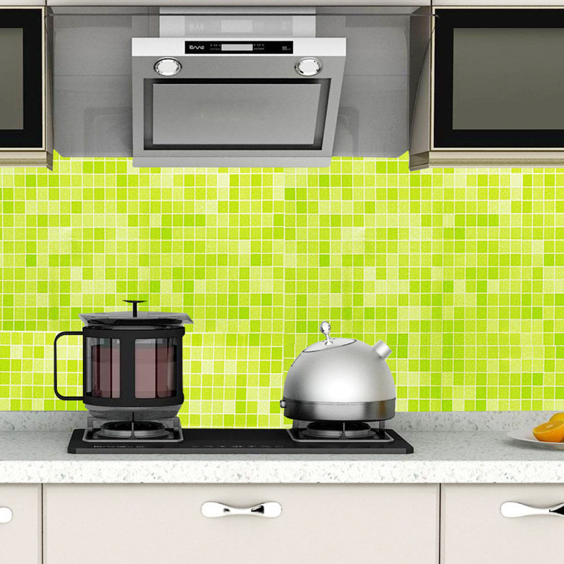 Kitchen Tools Self Adhesive Waterproof Wall stickers Wallpaper Rolls For Kitchen accessories Furniture Decoration Wall Sticker in Wall Stickers from Home Garden