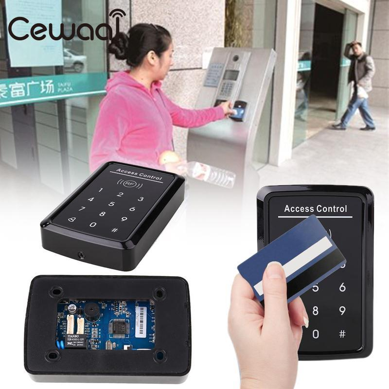 Cewaal Electric Magnetic Access Control Doors Lock Security Password EM Cards Black Rfid 125khz id tag security card reader