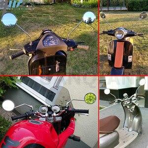 Image 5 - Um Par de Motocicleta Revisão Espelho Rear Side Espelhos Universal Para Yamaha AT1M Motorcross 1970 AT2 AT1 125 1969 1971 125 1972