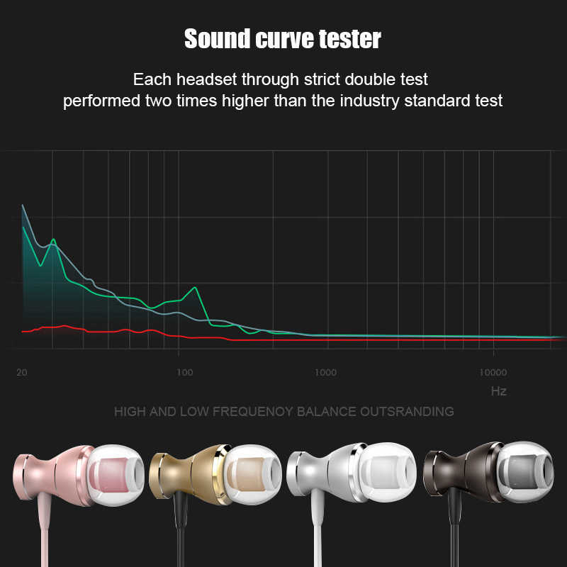 سماعات أذن معدنية مغناطيسية من MENGYU سماعة رأس رياضية ثقيلة مضادة للتعرق مزودة بميكروفون سماعات أذن غير محمولة لهواتف آيفون وسامسونج وشاومي