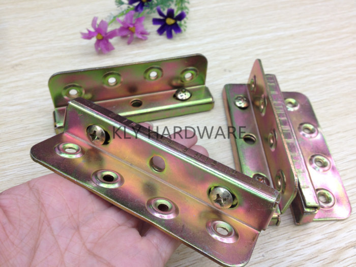 Bed Fitting Hardware,Bed Corners,bed rail fasteners, bed hinges(set of 4)
