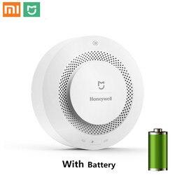 Asli Xiaomi Mijia Honeywell Fire Detector Alarm Terdengar dan Visual Alarm Bekerja dengan Gateway Detektor Asap Rumah Pintar Remote
