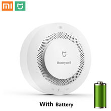 Original Xiaomi Mijia Honeywell Fire Alarm Detector Audible And Visual Alarm Work With Gateway Smoke Detector Smart Home Remote(China)