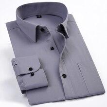 50% baumwolle herren clothing einfarbig sommer frühling marke hemd casual dress slim fit shirt langarm grau cs16
