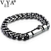 V YA New Arrival 925 Sterling Silver Male Bracelet Thai Silver Dragon Scale Bracelets Bangles For