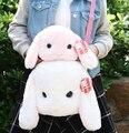Presente para o bebê 1 pc macio Loppy Amuse coelho orelha longa coelho de brinquedo de pelúcia bonito doce menina estudantes bolsa de ombro mensageiro saco