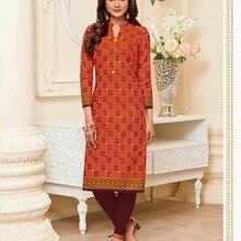 f027e5aea6 Tradicional indio Kurti 3 cuartos de la manga de algodón Kurta de Bollywood  diseñador elegante túnica Top vestido de las mujeres.