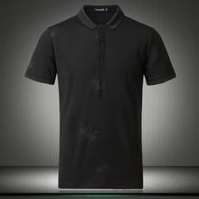 Высокое качество Топ дизайнер мужские поло Мода темный паук с узором, с коротким рукавом Умные повседневные рубашки большого размера M-4XL 5XL 81875