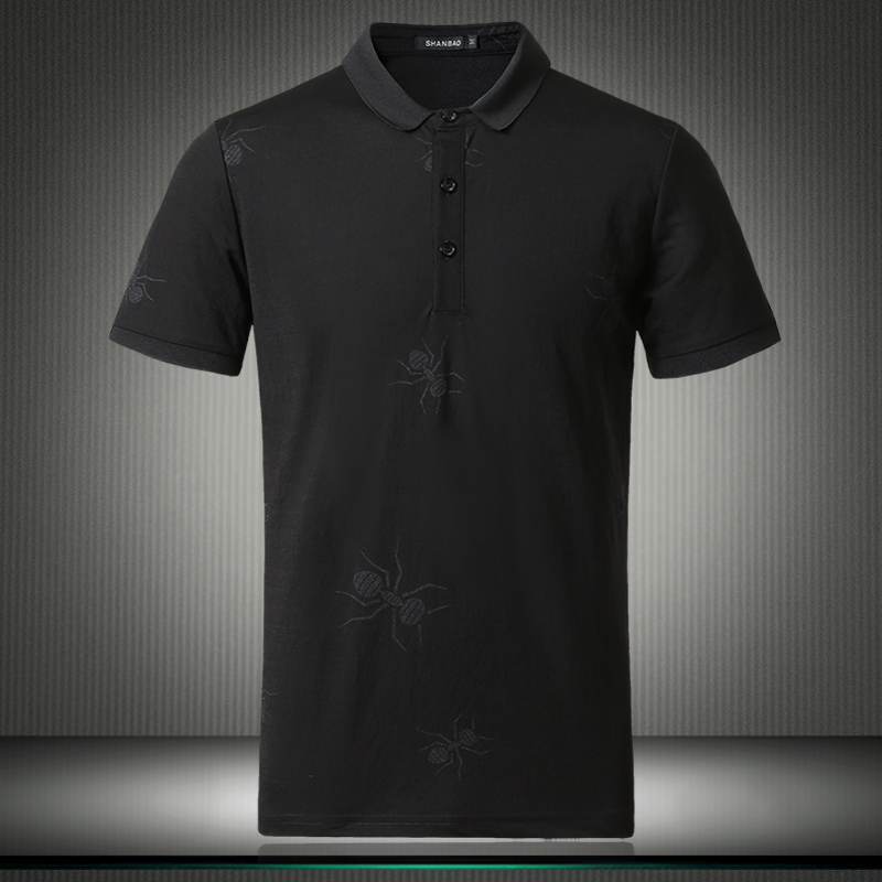 High Quality Top Designer Mens   Polos   Fashion Dark Spider Pattern Short Sleeved Smart Casual Shirts Oversized M- 4XL 5XL 81875