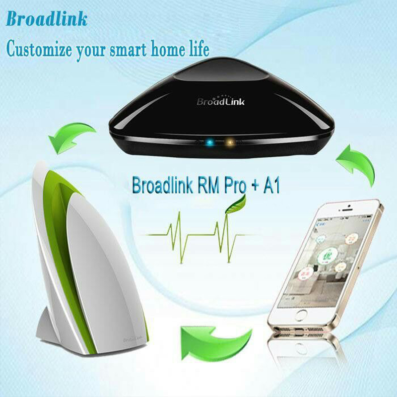 2018 Broadlink RM Pro RM3 Version + A1 Air Quality Detector For Smart Home IR+RF+WiFi Intelligent Remote Control Via Ios Android free shipping 2017 broadlink rm pro rm03 smart home automation wifi ir rf universal intelligent remote control switch for