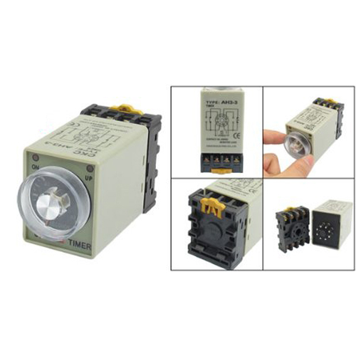 DSHA New Hot AC 110V 0-60 Seconds 8P Screw Resistive Load Delay Timer Time Relay w Base szs hot dc 12v 0 30 seconds 30s electric delay timer timing relay dpdt 8p w base