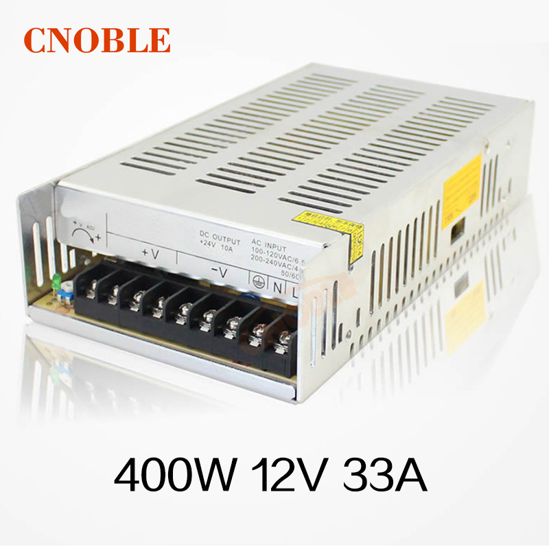цена на Best quality 12V 33A 400W Switching Power Supply Driver for LED Strip AC 100-240V Input to DC 12V