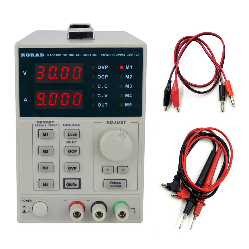 KORAD KA3010D Precision Variable Adjustable 30V, 10A 0.01V 0.001A DC Linear Power Supply Digital Regulated Laboratory Class