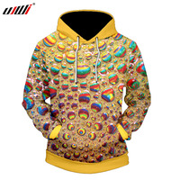 UJWI New Fashion 3D Printed Colorful Water Drops Hoodies Sweatshirts Hip Hop Men Pullover Funny Cool Boys Tracksuits Plus Size