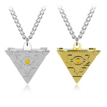 Wholesale 2017 Anime 3D Yu Gi Oh Cosplay Pyramid Egyptian Eye Of Horus Yu-Gi-Oh Necklace Yugioh Millenium Pendant Necklace-30(China)