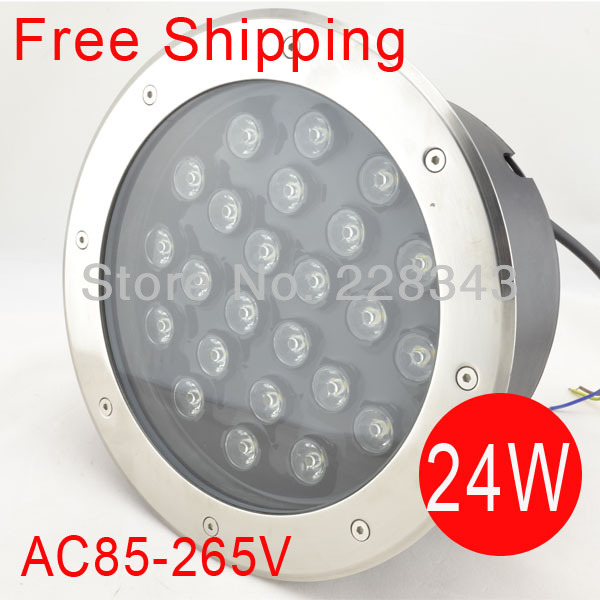 Free Shipping 24W LED round underground lamps Buried lighting LED project lamps LED outdoor lamps AC85~265V IP68 2pcs lot 36w led round underground lamps buried lighting step light led led outdoor lamps led floor light 12v ac85 265v ip67
