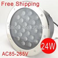 Freies Verschiffen 24 Watt LED runden u lampen Buried beleuchtung LED projekt lampen LED outdoor lampen AC85 ~ 265 V IP68|LED-Erdlampen|Licht & Beleuchtung -