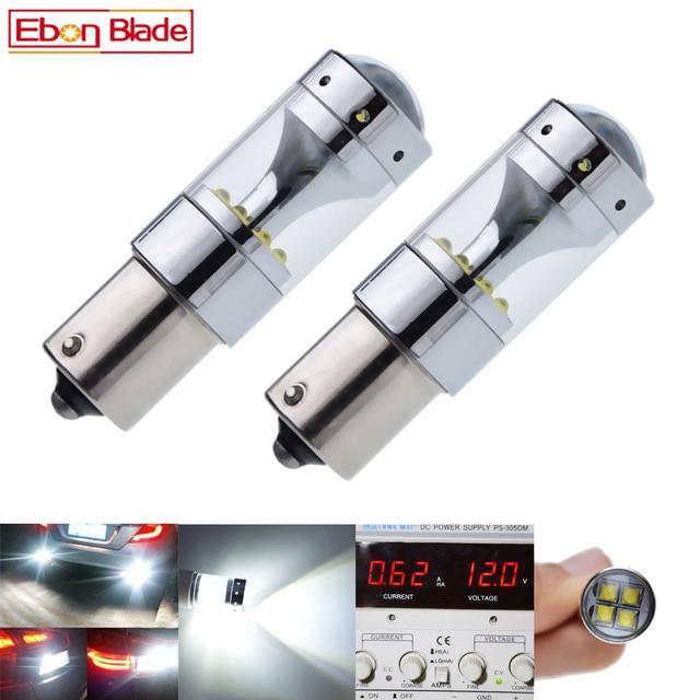 2Pcs 1156 ba15s p21w py21w bau15s 1157 bay15d p21/5 w led אורות cree xbd 60W אוטומטי מנורת נורות רכב led אור סטיילינג 12V 24V DC