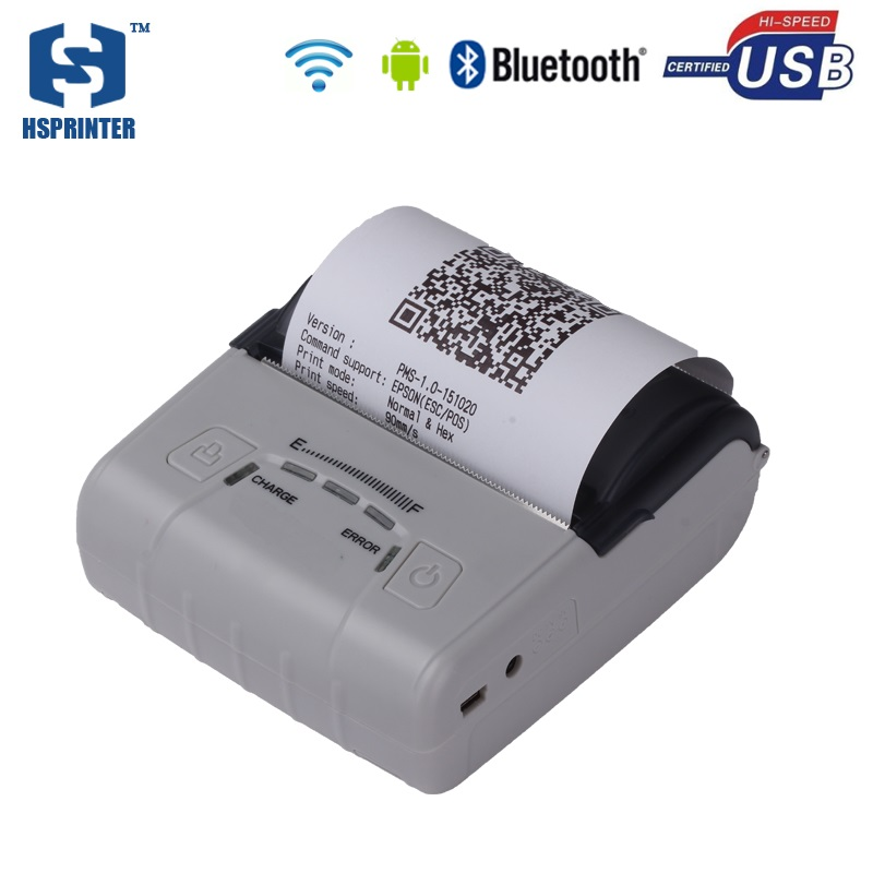 Thermal 80mm printer wifi receipt printer mobile bluetooth android pos impressora with 2500mAh battery handheld machine