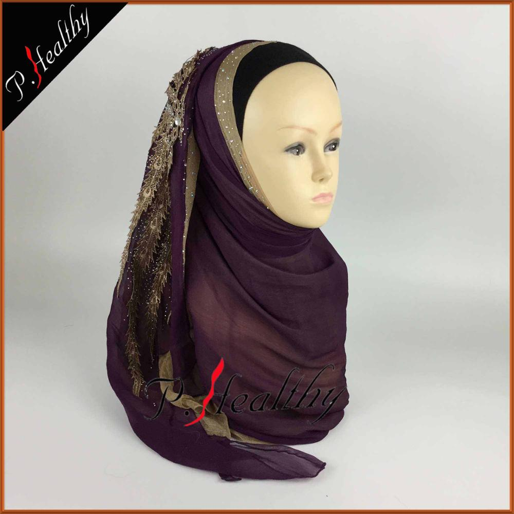 Свадебный хиджаб платок головной убор одежда модная свадебная шаль шарфы Муслин, можно выбрать Цвета, phw001 - Цвет: color11
