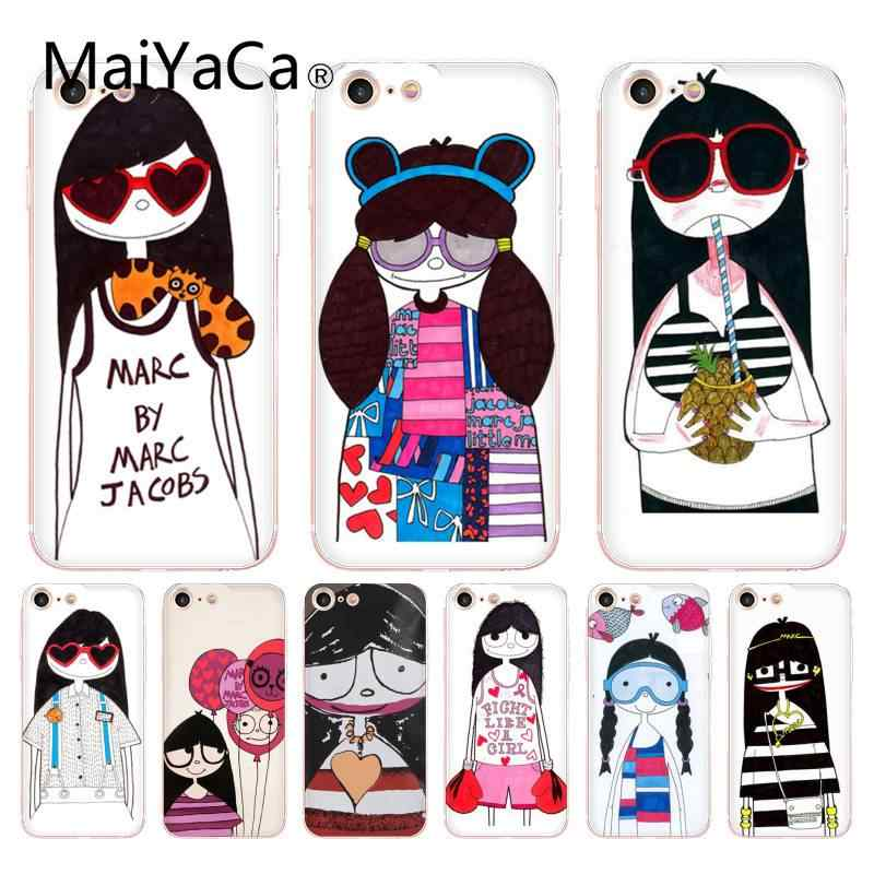 34bd298afc Detail Feedback Questions about MaiYaCa For iphone 7 6 X Case Marc by Marc  Jacobs Miss Marc Lovely Girl Phone Case for iPhone 8 7 6 6S Plus X 10 5S XS  ...