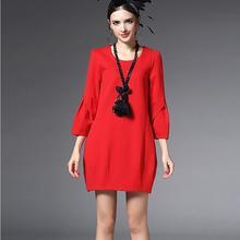 2016ฤดูใบไม้ผลิใหม่หลาใหญ่ผู้หญิงแต่งตัวบริสุทธิ์สีปกรอบ7นาทีแขนสง่างามแฟชั่นผ้าโรมันเซ็กซี่ผู้หญิง ClothingQ24