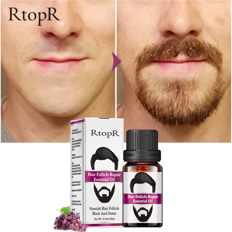 RtopR Hair Follicle Repair Oil Men Styling Moustache Oil Hair Growth Of Beard Body Hair Eyebrow Care Moisturizing Smoothing 10ml 4