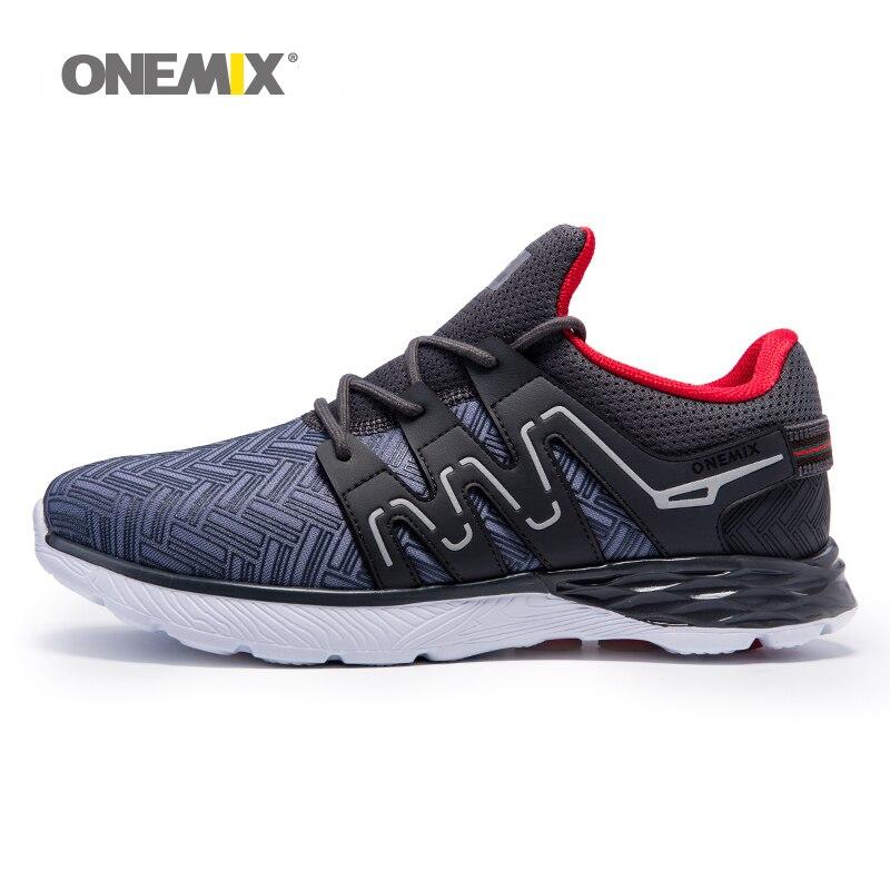 Onemix hommes chaussures de course respirant chaussures de marche en plein air mâle sport sneakers lumière jogging chaussures pour adultes de sport sneakers