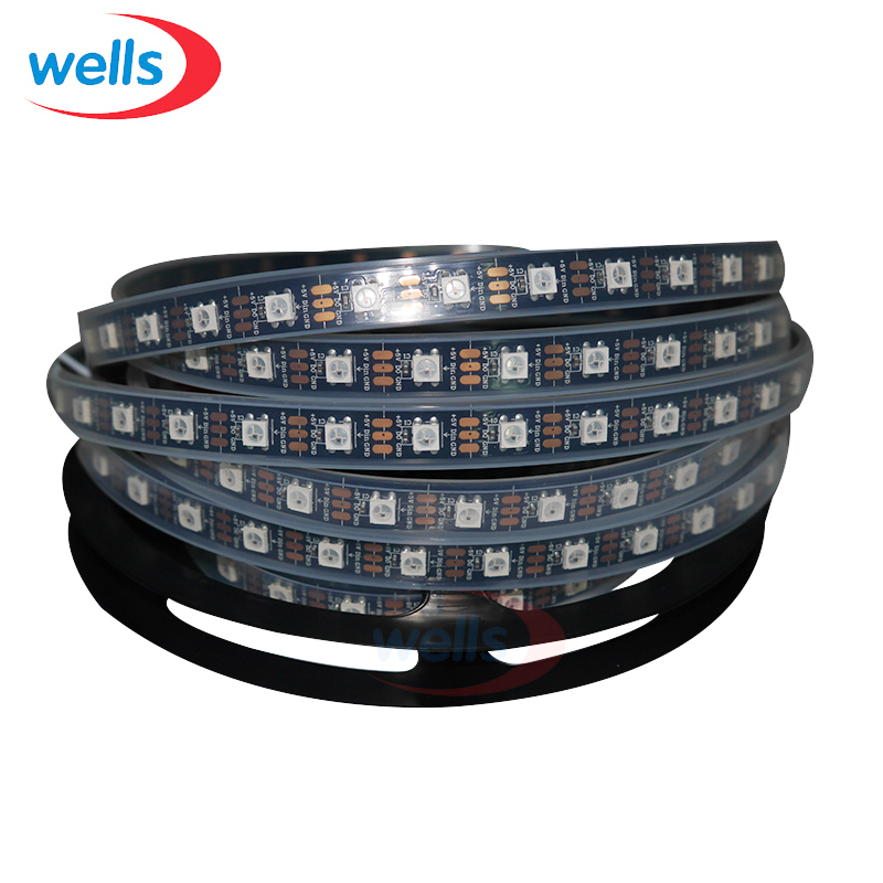 50M WS2812B 60led m 5050 RGB 60 IC Per M DC5V Waterproof in Silicon tube IP67 in Connectors from Lights Lighting