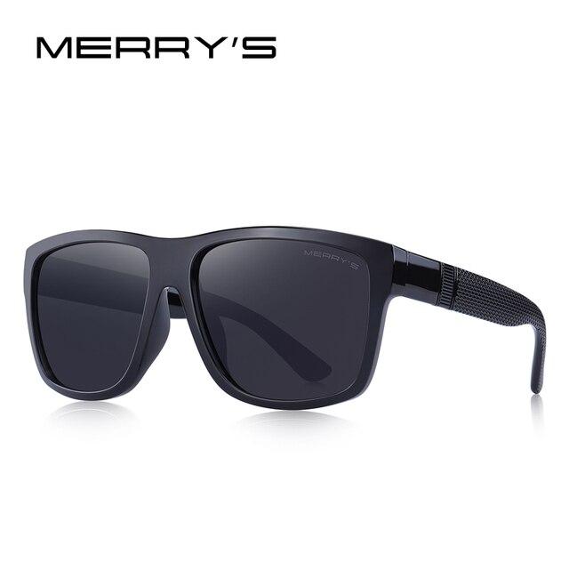 MERRYS DESIGN Men Classic Polarized Sunglasses Male Vintage Square Sun Glasses