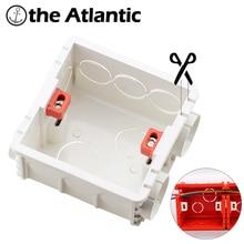 Разрезать Монтажная коробка настенный переключатель и розетки подрозетник распределительная коробка 86*86 мм коробка