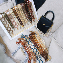 Brands Acrylic Resin Bag Strap Accessories Women Shoulder Belt Detachable Acrylic Chains Shoulder Plastic Strap Handbag Strap