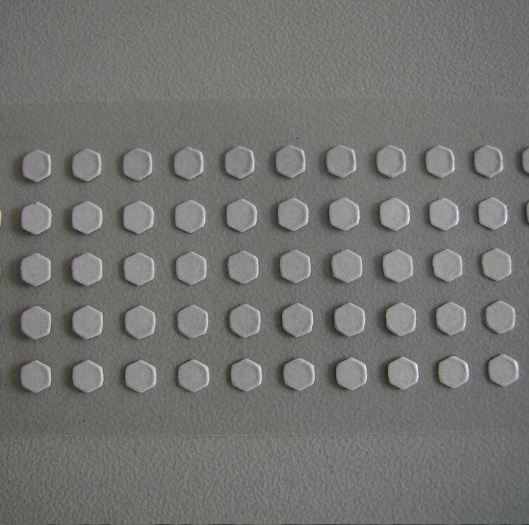 3 х 3 мм шестиугольная сенсорная водная Поворотная красная противоподделочная водочувствительная этикетка наклейки безопасности