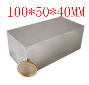 купить block hole magnet 100 x 50 40 mm powerful craft neodymium rare earth permanent strong n50 n52 недорого