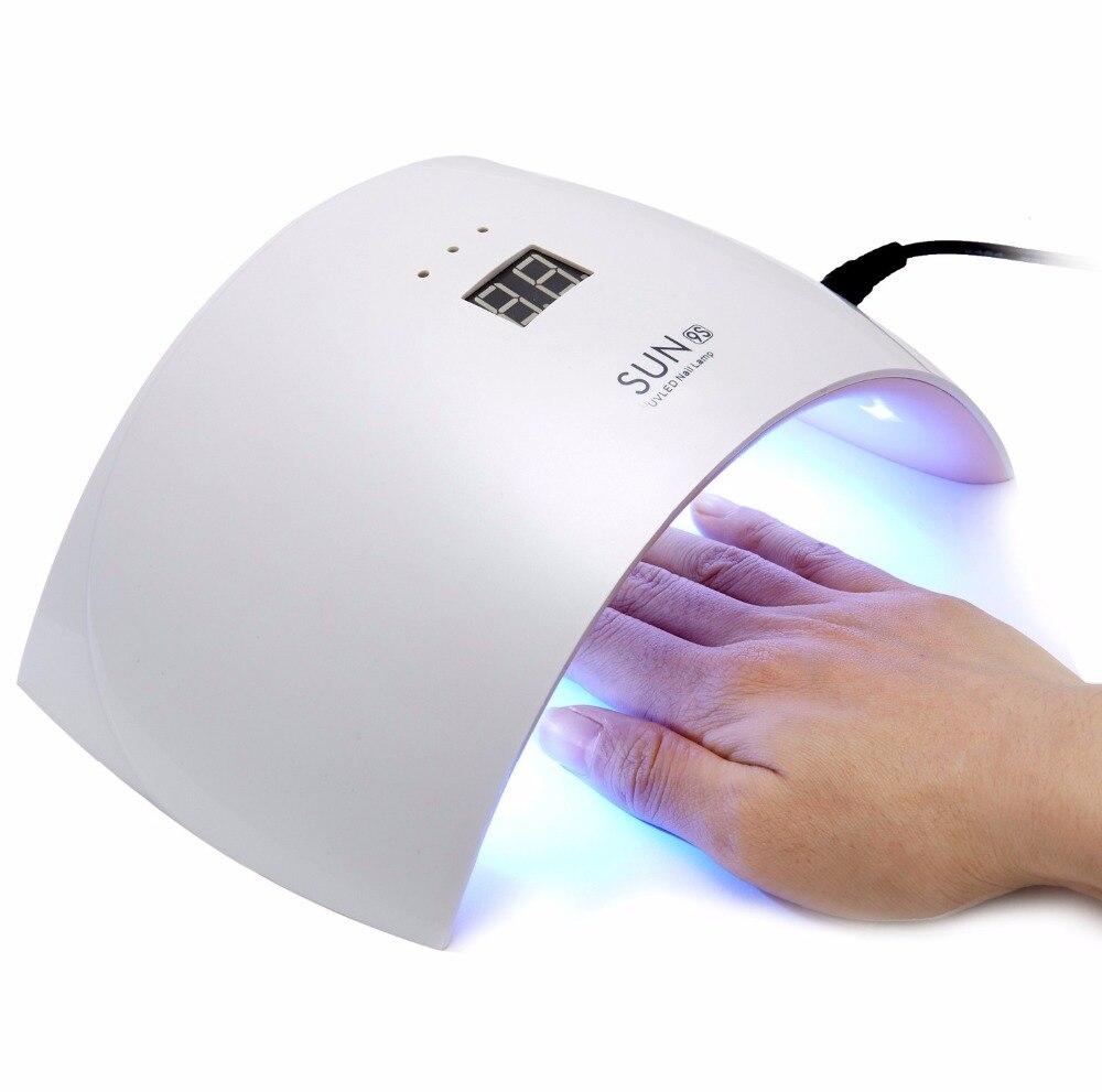 New 24W White Light Profession LED UV Lamp SUN LED UV SUN9C Nail Dryer Machine For Curing Nail Polish Gel Nail Art Tools